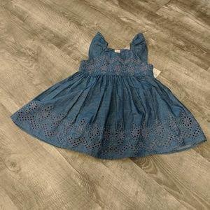 New! Baby Gap Eyelet Chambray Dress